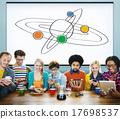Center Saturn Universe Leadership Responsibility Concept 17698537