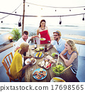 Diverse People Luncheon Beach Rooftop Food Concept 17698565