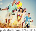Family Playing Outdoors Children Field Concept 17698816