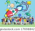 Rocket Launch Space Outerspace Planets Concept 17698842