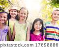 Diversity Friends Children Park Happiness Concept 17698886
