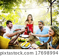 Diverse People Friends Hanging Out Drinking Concept 17698994
