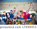 Diverse Beach Summer Friends Holding Together Concept 17699455