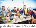 Diverse Beach Summer Party Roof Top Fun Concept 17699566