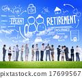 Business People Retirement Career Digital Communication Discussi 17699567