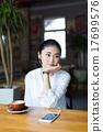 girl drinking coffee 17699576