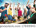 Party Dinner Friendship Happiness Summer Concept 17699945