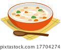 燉湯 奶油濃湯 熟的 17704274