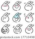 兔子 兔 圖標 17710498