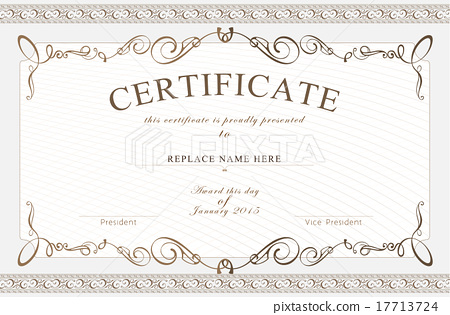 Certificate border certificate template vector stock certificate border certificate template vector yadclub Images