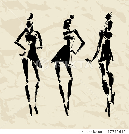 Beautiful Woman silhouette.  17715612