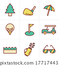 Icons Style golf  Icons Set, Vector Design 17717443