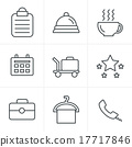 Line Icons Style Hotel and Hotel Services Icons 17717846