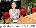 woman with coffee mug 17718090
