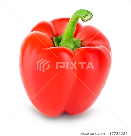 Sweet red pepper isolated on white background 17723225