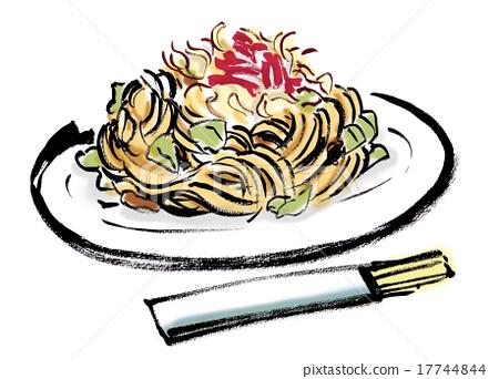 Fried noodles 17744844