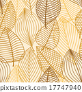 Yellow and brown leaves seamless pattern 17747940