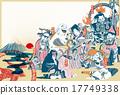新年賀卡 賀年片 七福神 17749338