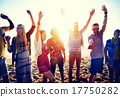 Teenagers Friends Beach Party Happiness Concept 17750282