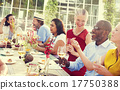 Diverse People Luncheon Outdoors Hanging out Concept 17750388