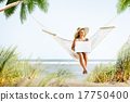 Woman Relaxation Beach Working Enjoyment Concept 17750400