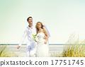 Couple Romance Beach Love Marriage Concept 17751745