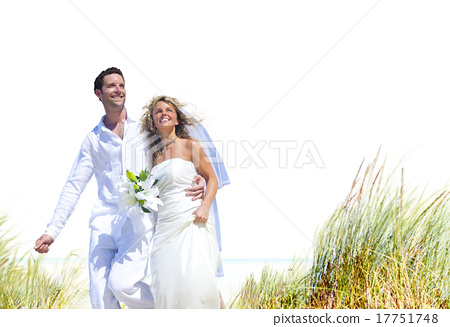 Couple Romance Beach Love Marriage Concept 17751748