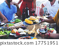 Diverse People Luncheon Food Sharing Concept 17751951
