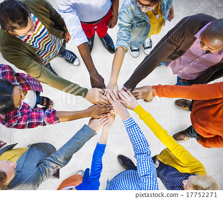 Stock Photo: Team Corporate Teamwork Collaboration Assistance Concept
