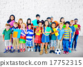 Multiethnic Children Smiling Happiness Friendship Concept 17752315