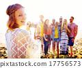 Friendship Bonding Relaxation Summer Beach Happiness Concept 17756573