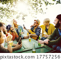 Diverse People Hanging Out Garden Concept 17757256