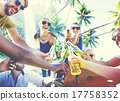 Friends Summer Beach Party Cheers Concept 17758352