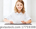 student girl with keyboard 17759388