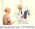 smiling senior woman and doctor meeting 17759505