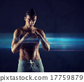 young man in fighting or boxing position 17759879