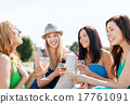 girls with champagne glasses on boat 17761091