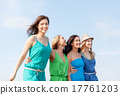 girls walking on the beach 17761203