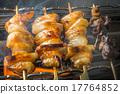 日式料理 日式烤鸡串 鸡肉烤串 17764852