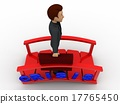 3d man crossing crisis bridge concept 17765450