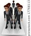 3d men standing seesaw one man on on side and group of men on other side concept 17768113