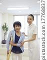 護士 老人 拐杖 17768837