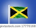 Flag of Jamaica flying against a blue sky 17770168