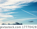Blue sky and trace of airplane 17770428