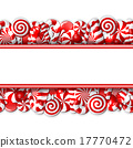 Sweet banner with red and white candies.  17770472