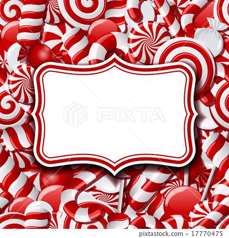 Frame Labels On Sweet Background Stock Illustration 17770475 Pixta