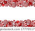 Frame made of red and white candies 17770517