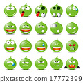 Set of green emoticons 17772399