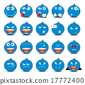 Set of light blue rounded icons 17772400