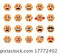 Set of orange lollipop icons 17772402